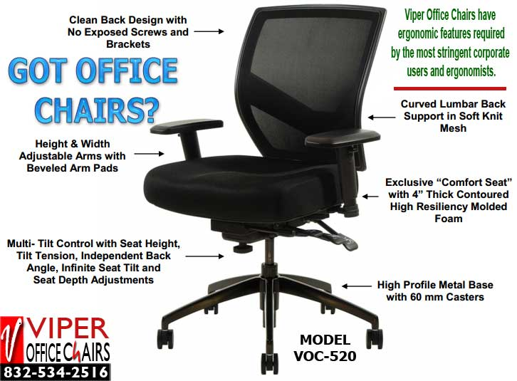 sc 1 st  Viper Office Chair Sales u0026 Repair & How to Evaluate a Viper Soft Mesh Office Chair