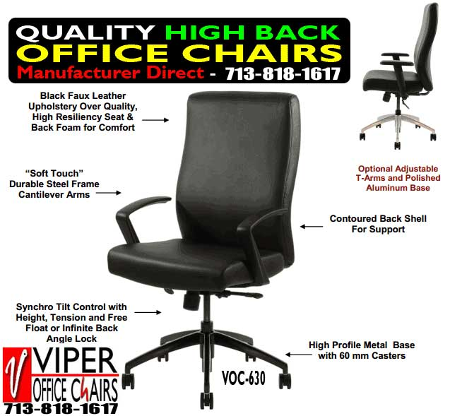 High Back Office Chairs On Sale In Jersey Village Texas